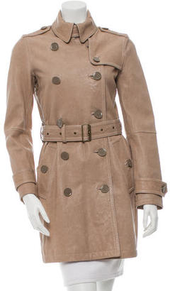 Burberry Brit Leather Trench Coat $895 thestylecure.com