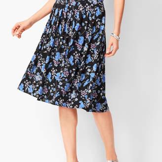 Talbots Pleated Wildflowers Midi Skirt