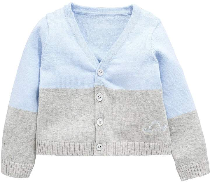 Mini V by Very Baby Boys Soft Lightweight Knit Cardigan