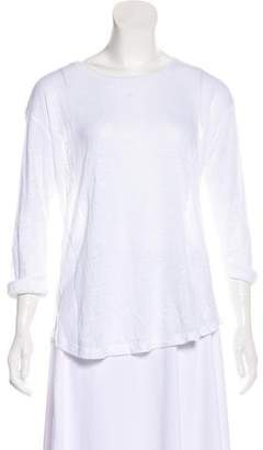 Vince Linen Three-Quarter Sleeve Top