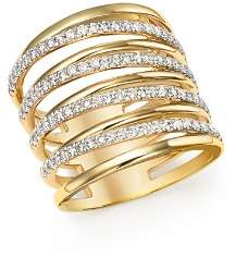 Bloomingdale's Diamond Multi Row Wide Ring in 14K Yellow Gold, 1.0 ct. t.w. - 100% Exclusive