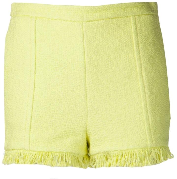 MSGM raw edge trim shorts