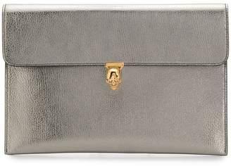 Alexander McQueen skull envelope clutch bag