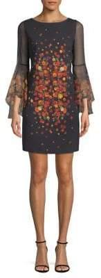 Elie Tahari Trans 18 Esmarella Floral Shift Dress