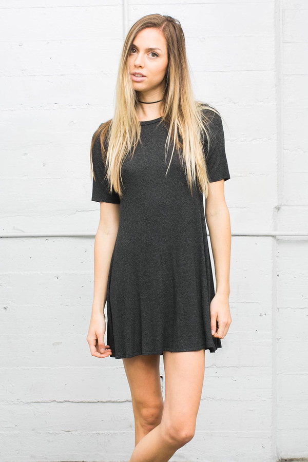 Joah Brown - Oxford Dress In Charcoal