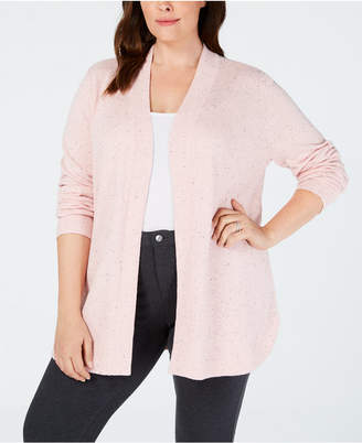 Karen Scott Plus Size Open-Front Cardigan
