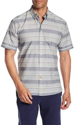 Thomas Dean Striped Chest Pocket Slim Fit Shirt