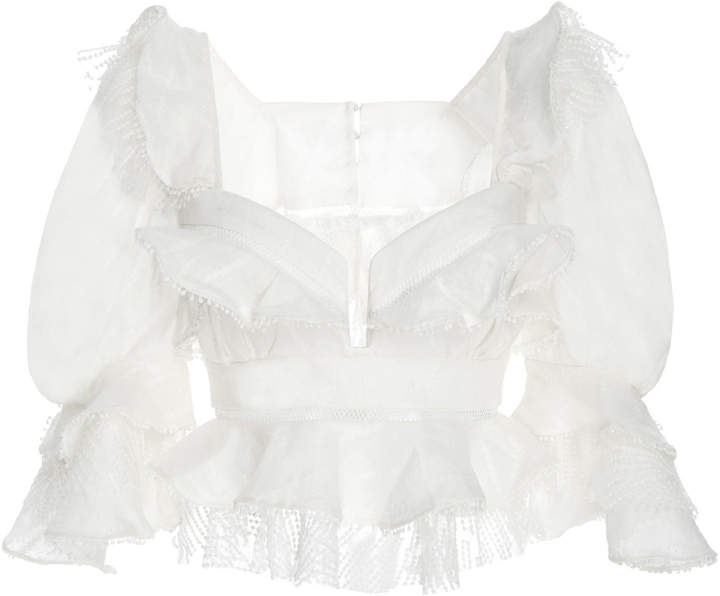Acler Basque Ruffle Top Basque Acler Acler Ruffle Top q4E5xOfww