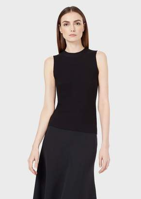 Giorgio Armani Top In Links Stitch Fabric