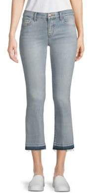 J Brand Selena Mid-Rise Bootcut Cropped Jeans