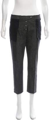 Givenchy Mid-Rise Straight-Leg Cropped Jeans