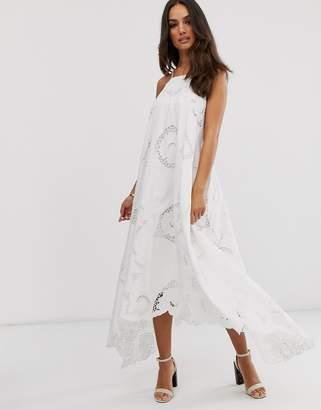 Asos Edition EDITION cutwork halter swing dress