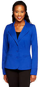 Linea by Louis Dell'Olio Ponte Knit Blazer w/Hood