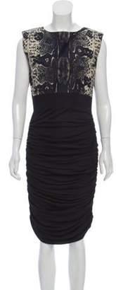 Giambattista Valli Printed Midi Dress Black Printed Midi Dress