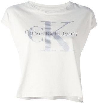 Calvin Klein Jeans logo short sleeved T-shirt $49.47 thestylecure.com