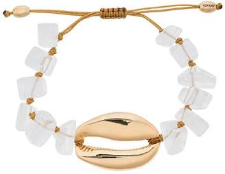 Puka Tohum metallic shell gold-plated bracelet