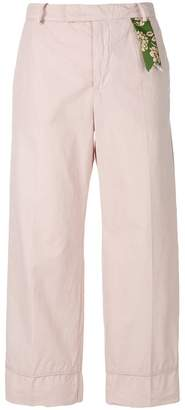 The Gigi straight-fit cropped trousers