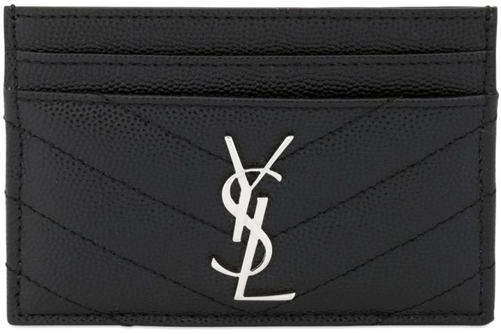 Monogram Quilted Card Holder