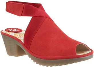 Fly London Suede Ankle Strap Heeled Sandals - Wato