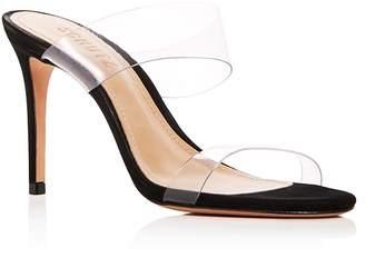 Schutz Women's Ariella Clear Strap High-Heel Slide Sandals
