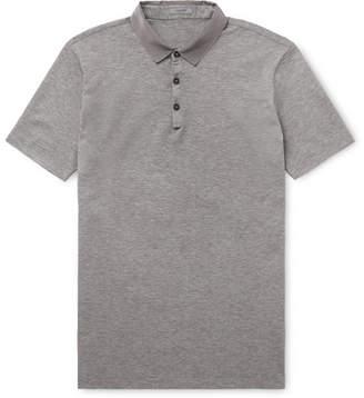 Lanvin Grosgrain-Trimmed Cotton-Piqué Polo Shirt