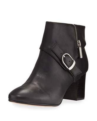 Taryn Rose Drive Leather Buckle Bootie, Black $175 thestylecure.com