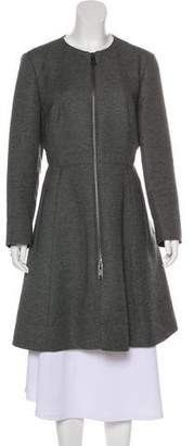 DKNY Wool Knee-Length Coat