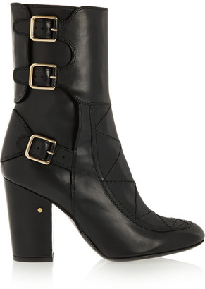 Laurence Dacade - Merli Buckled Leather Boots - Black $1,100 thestylecure.com