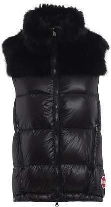 Colmar Fur Quilted Nylon Padded Vest