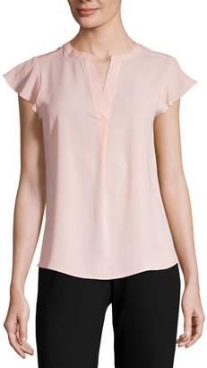 Calvin Klein Classic Flutter-Sleeve Top