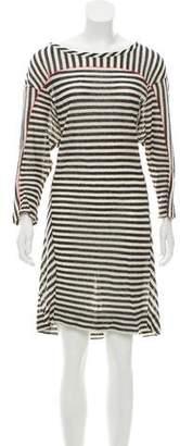 See by Chloe Striped Long Sleeve Dress