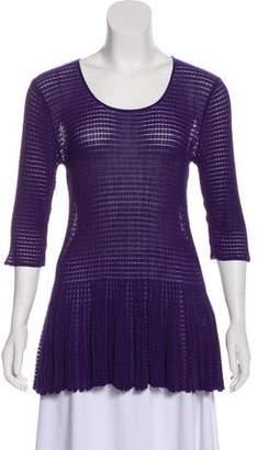 Armani Collezioni Knit Short Sleeve Top