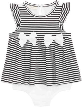 First Impressions Baby Girls Striped Skirted Romper