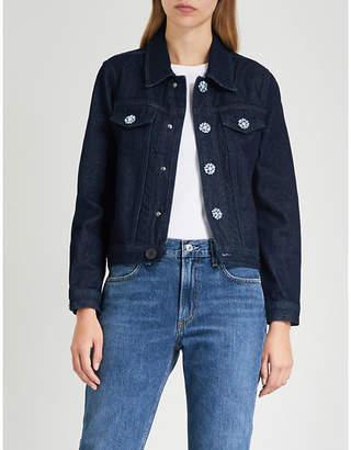 Claudie Pierlot Vera flower-button denim jacket