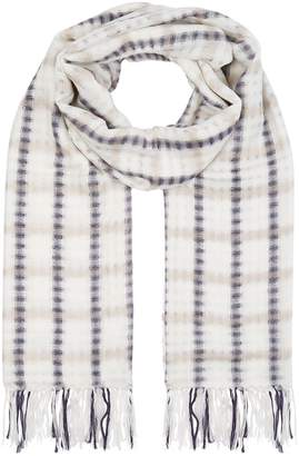 Wool and cotton-blend checked scarf Max Mara whzMK97f