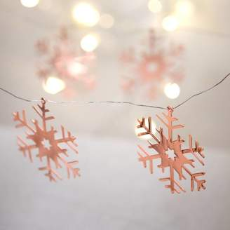 The Christmas Home Rose Gold Snowflake Christmas Decorations