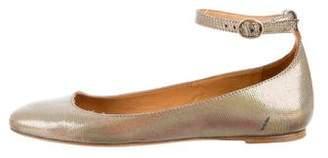 Etoile Isabel Marant Metallic Ankle Strap Flats