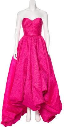 Oscar de la Renta Textured Silk-Blend Gown w/ Tags