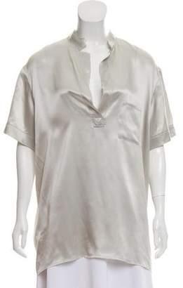Lanvin Oversize Short-Sleeve Top