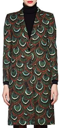 Dries Van Noten Women's Peacock-Pattern Jacquard Coat