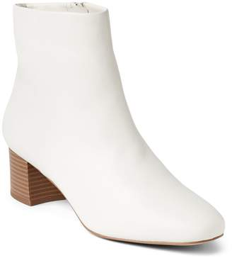 Gap White Leather Booties