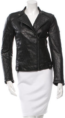 Belstaff Quilted Leather Jacket $715 thestylecure.com