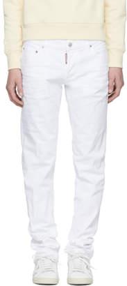 DSQUARED2 White Slim Jeans