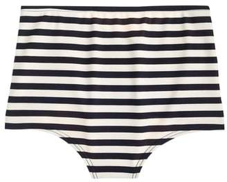 J.Crew Stripe High Waist Bikini Bottoms