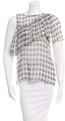 Thomas Wylde Silk Skull Printed Top w/ Tags