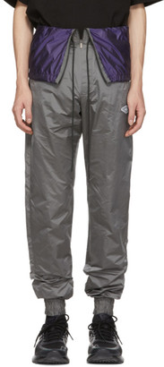 D.gnak By Kang.d Grey Waist Flap Lounge Pants