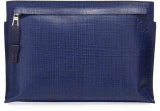 Loewe T Linen-Textured Pouch Bag