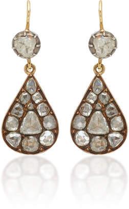 Renee Lewis 18K White Gold And Diamond Drop Earrings
