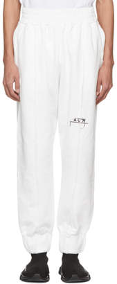A-Cold-Wall* White Seamline Lounge Pants