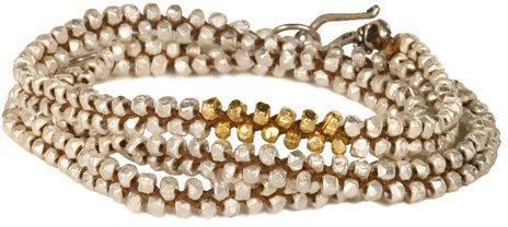 Chan Luu Silver Vermeil Nugget Wrap Bracelet